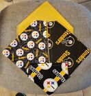 PITTSBURGH STEELERS NFL HOMEMADE 2 SIDED DOG SCARF  (PICK SIZE)