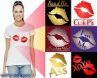 Sexy Lipstick Kiss Women's T-Shirt - Kissing Lips Tshirt