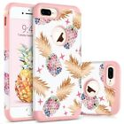 For iPhone 8 7 6S 6 Plus Cute Pineapple Design Case Cover Shockproof Bumper Girl