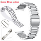 Stainless Steel Metal Bracelet Replacement Watch Band Strap Double Locking Clap image