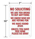 """Funny No Soliciting Sign 