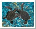 Baby Sea Turtles In Water Art Print Home Decor Wall Art Poster