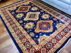 Stain Resistant Persian Gabeh Transitional Aged Design Navy Floor Area Rugs