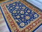 Stain Resistant Persian Allover Aged Design Navy Red Border Floor Area Rugs
