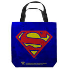 SUPERMAN GALVANIZED SHIELD LICENSED LIGHTWEIGHT TOTE BAG 2 SIDED PRINT