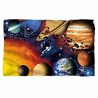 SOLAR SYSTEM Planets Space Shuttle Hubble Lightweight Polar Fleece Throw Blanket image