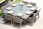 Outdoor Dining Set Rattan Garden Pool Patio Alfresco Furniture Table Chairs