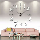 3D Mirror Wall Clock Sticker Letters DIY Art Mural Home Room Decor Acrylic Decal