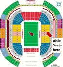 Arizona Cardinals VS Los Angeles Rams 4 Lower Level Tickets Section 128 on eBay