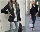 ZARA BLACK VELVET PLUMETIS EMBROIDERED JACKET KIMONO SAMT JACKE BLUSE STICKEREI