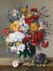 Colorful Flowers In Vase Crazy Quilt Block Multi Sizes FrEE ShiP WoRld WiDE (F3