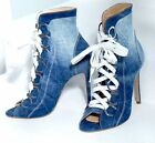 By Alina High Heels Peeptoes Stiefeletten Pumps Ankle Boots Jeans 37 38 39 #V91