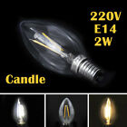 LED E27 E14 Edison Filament Bulb Light Retro Vintage Screw Globe Lamp 2/4/6/8W