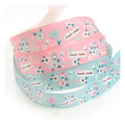 "2 METRES 16mm SATIN FLOWER ""HAND-MADE"" PATTERNED SHABBY CHIC RIBBON WEDDING"