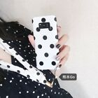 Black Polka dot Silicone Pattern Case Cover For Samsung Galaxy S7edge S8 S9 PLUS