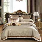 Exclusive Wedding Embroidery Jacquard Egyptian Cotton Duvet Cover 4/6/10pcs UPS