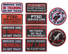 Embroidered SERVICE DOG Patch Hook Loop Therapy Patches Vest Badge