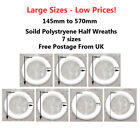 POLYSTYRENE HALF ROUND RINGS CHRISTMAS HOLLY WREATHS  GARLANDS CRAFT FLORIST UK