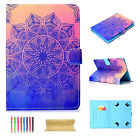 For Amazon Kindle Fire HD 10 2017 Luxury Pattern Flip Leather Wallet Case Cover