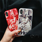 For IPhone X 8 76S Plus Luxury 3D Fashion Diamond Tempered Glass soft Case Cover