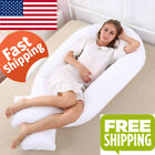 152*75cm U Shape Pregnancy Pillow Maternity Comfortable Sleeping Cushion Support image