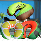 Kids Child Microbeads U Shaped Travel Pillow Airplane Car Ne