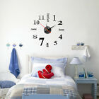 Modern Small/Large Number Wall Clock 3D Mirror Surface Sticker Home Decoration