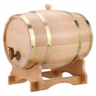 10L Wood Oak Timber Wine Barrel For Beer Whiskey Rum Port Wooden Keg with Stand
