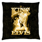 Elvis Presley in Gold THE KING Prayer Pose Printed Throw Pillow Many Sizes