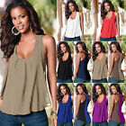 Womens Sleeveless Vest Tops Summer Loose Casual Blouse T Shi