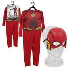 DC Justice League The Flash Kid's Costume Halloween Cosplay Dress Up