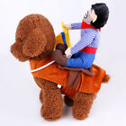 Pet Dog Halloween Horseman Costume Riding Cowboy Knight Coat Clothes S/M/L/XL