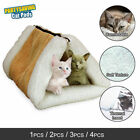 Pet Bed Tunnel Fleece 2-in-1 Cat Tube Cushion Mat Pad For Dog Kennel Crate House