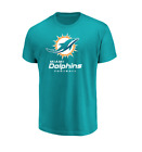 NFL Miami Dolphins Majestic Men's Critical Victory III T-Shirt - Aqua on eBay
