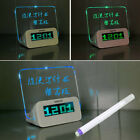 Digital Alarm Clock with LED Memo Board Memo Temperature Table Child Alarm Clock