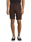 ONIA Max 100% Linen Drawcord Casual Shorts Charcoal Looks Brown Sz M $110 NWT