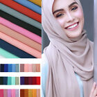 1x Fashion Women Plain Bubble Chiffon Islamic Muslim Hijab Lady Wrap Shawl Scarf