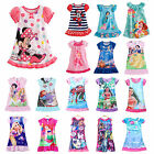 Girls Kids Nightie Nightdress Disney Cartoon Character Pyjamas Design Clothes US image