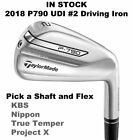 TaylorMade P790 UDI #2 Driving Iron on Steel Shaft - Pick a Shaft and Flex - New