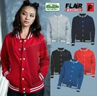 AWDis Hoods College Jacket Mens Womens Casual Letterman BaseBall Varsity JH041