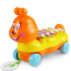 Baby Kinder 5-Note Xylophon Pull-Along Musical Entwicklung Spielzeug Geschenk