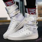 Fashion Men's Sneakers Shoes Buckle Belt Athletic Breathable Basketball High New