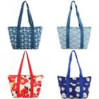 Nylon Insulated Lunch Tote Bag Zip Picnic Cooler Bag Lunch Box Floral Geometric