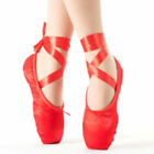 Women Ballet Dance Toe Shoes Strappy Ladies Satin Pointe Silk Ribbon Loafers