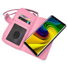 For Samsung Note 9 Case PU Leather Zipper Purse Case Detachable Flip Holster