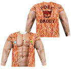 PORK DADDY COSTUME Adult Men's Long Sleeve Sublimated T-Shirt F/B SM-3XL