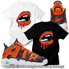 CUSTOM TEE matching T SHIRT Air More Uptempo What The 90s UTP 1-33-2 image