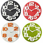 Moden 3D Big Digits Kitchen Home Office Decor Round Shape Wall Clock Art Clock