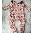 US Stock Newborn Baby Girl Floral Bodysuit Romper Jumpsuit Clothes Outfits 0-24M