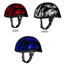 Kyпить Daytona Eagle with FLAMES Novelty Motorcycle Helmet 3 COLORS TO CHOOSE ALL SIZES на еВаy.соm